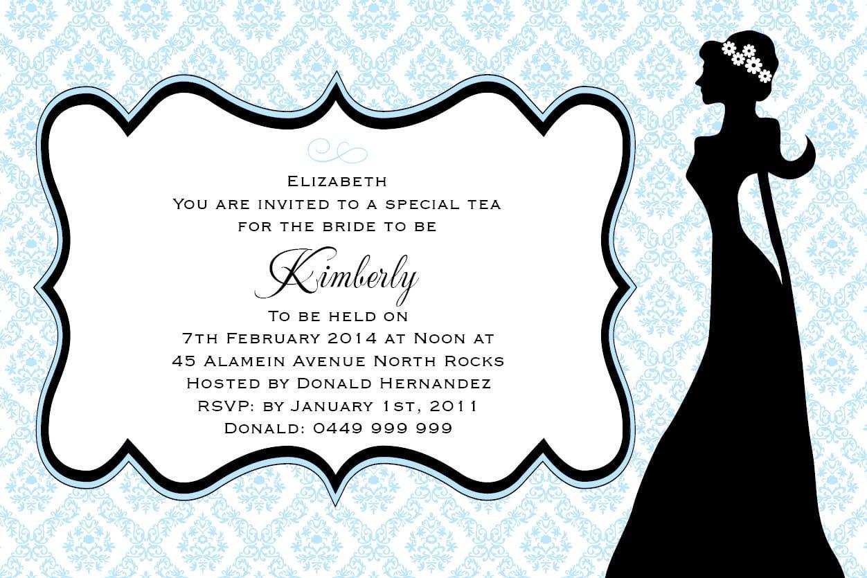Retro Tea Time Postcard In Lolly Peach Invitation