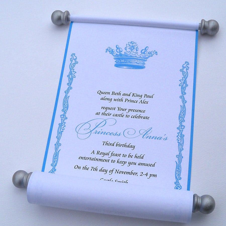 Royal Wedding Invitation, Crown Invitation, Princess Invitation