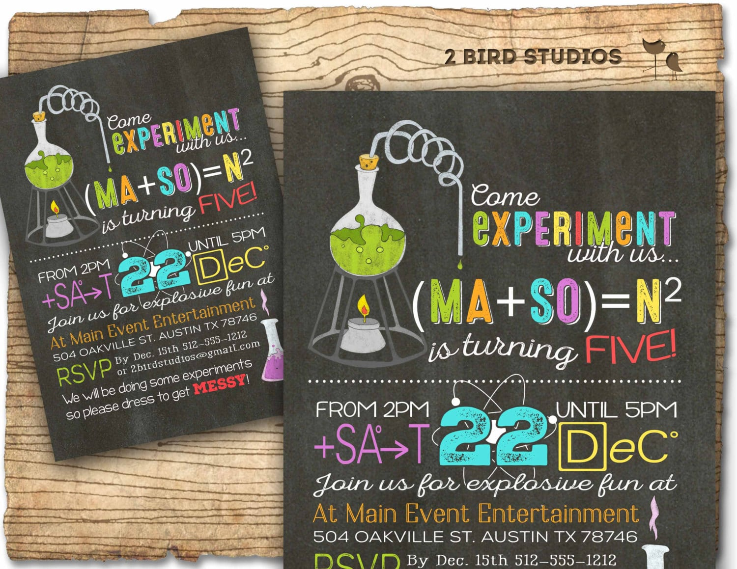 Science Party Invitations As Bewitching Ideas For Unique Party