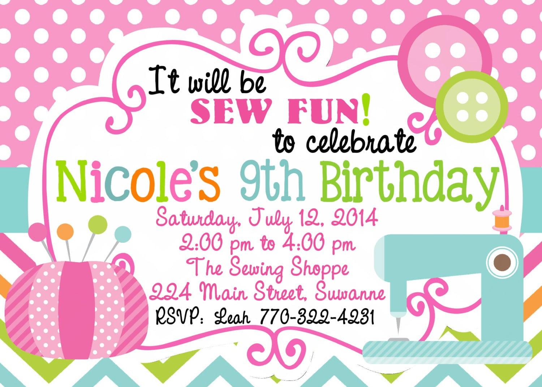 Sewing Invitations