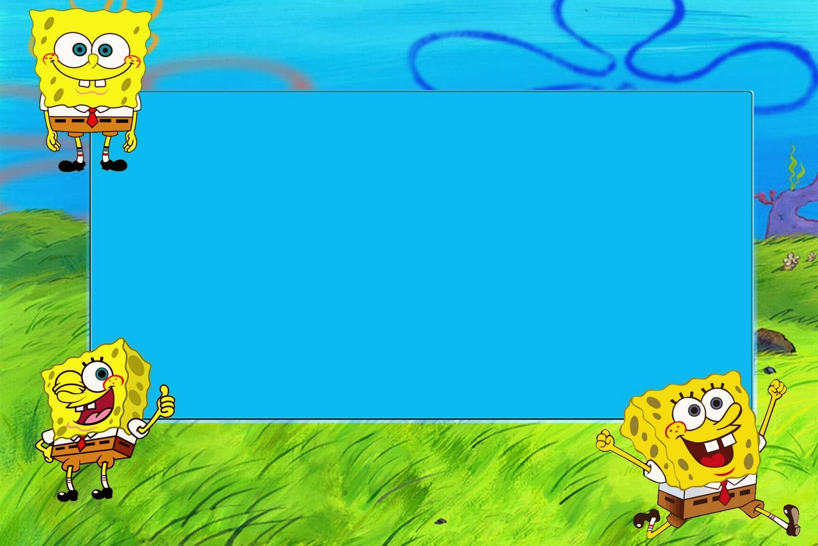 Spongebob Squarepants  Free Printable Cards And Invitations