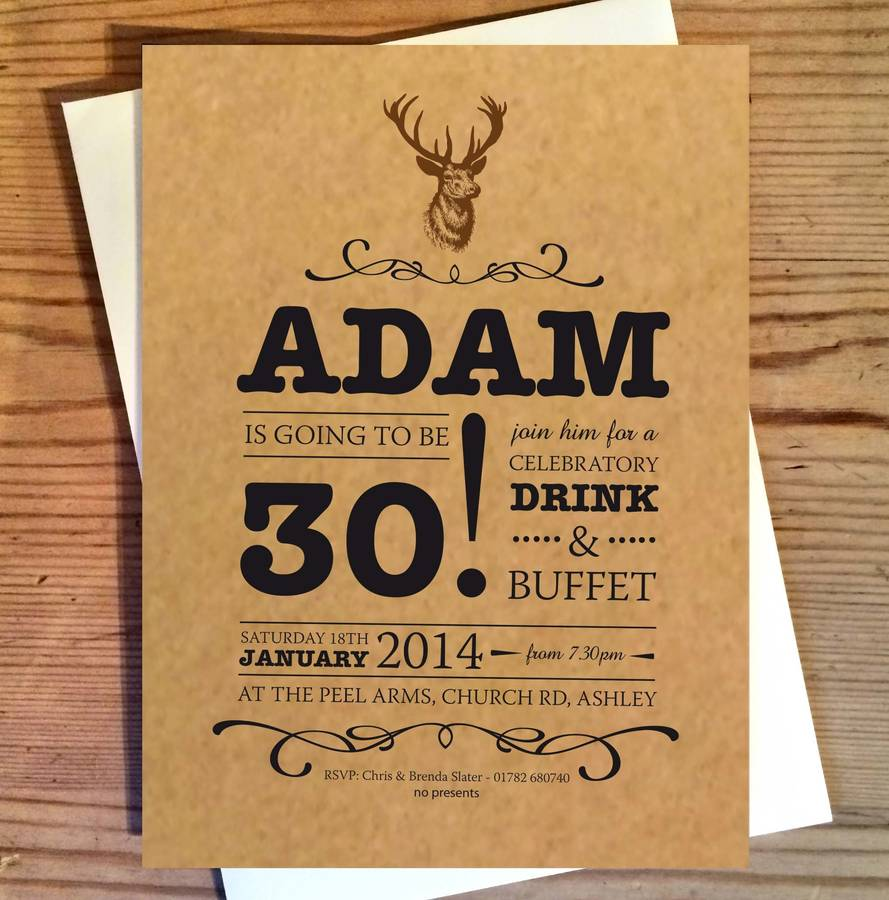 Stag Birthday Invitations By The Wild Partridge