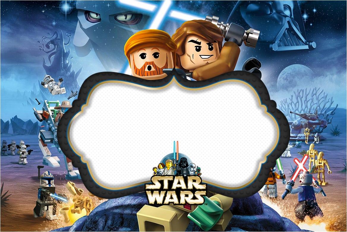 Star Wars Lego  Free Printable Invitations