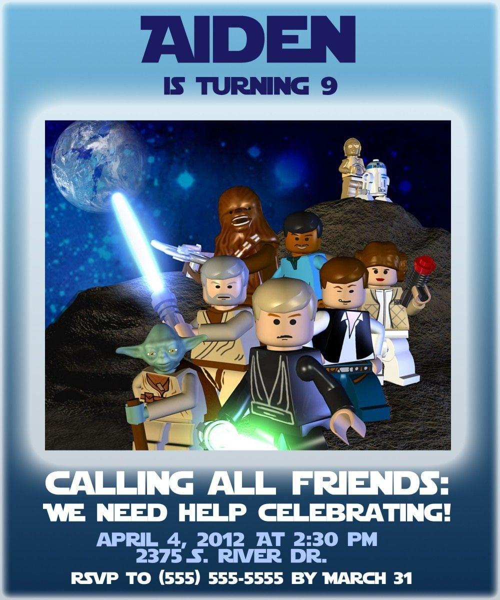 Star wars lego party invitations filmwisefo