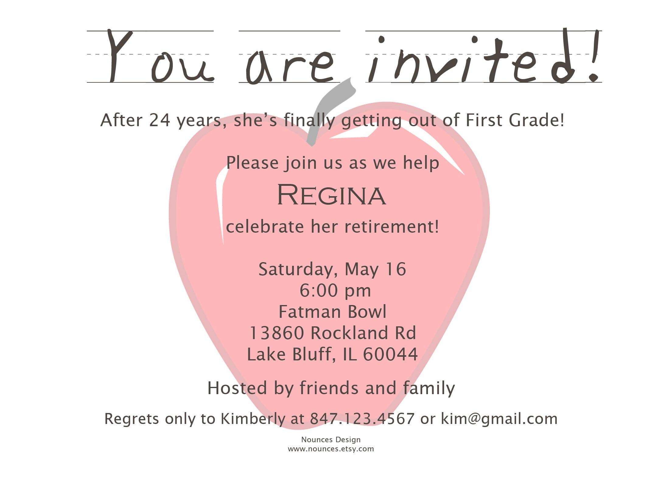 Stunning Teacher Retirement Party Invitation Wording 7 By