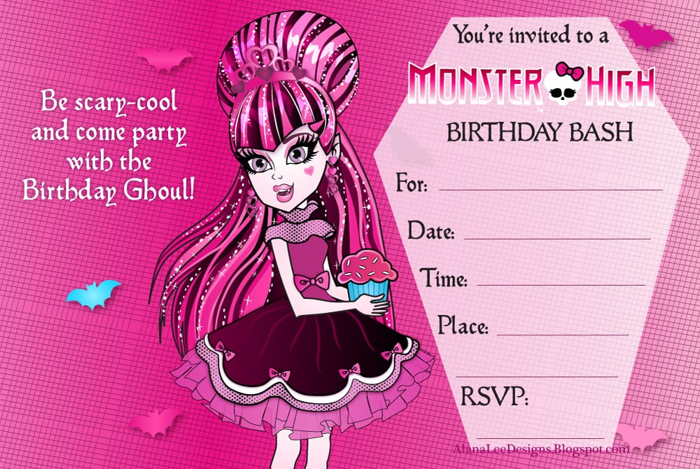 Superb Monster High Party Invitations Printable 8 About Affordable