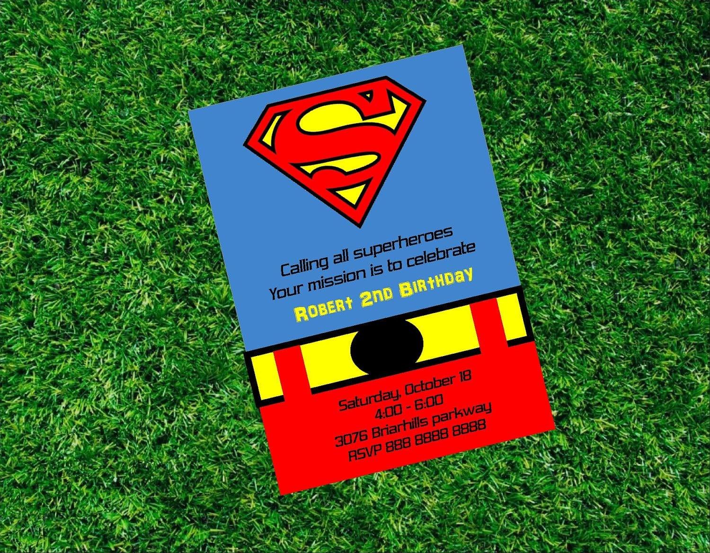Superman Birthday Party Invitations