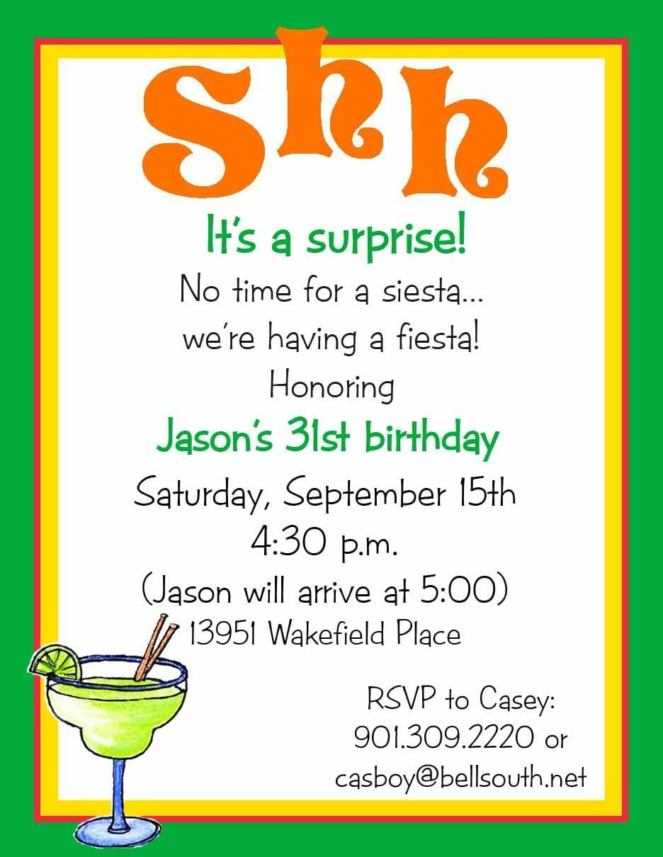 Surprise Birthday Party Invitations Templates Free   Surprise