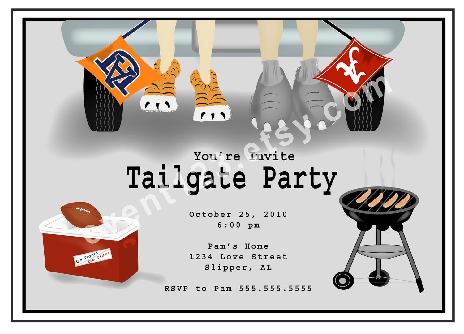 Surprising Tailgate Party Invitation As Surprise Party Invitations