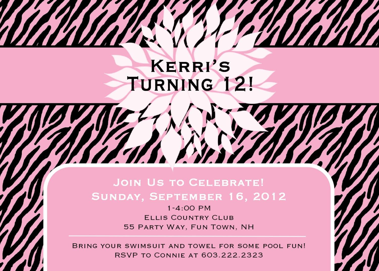 Teen Party Invitations