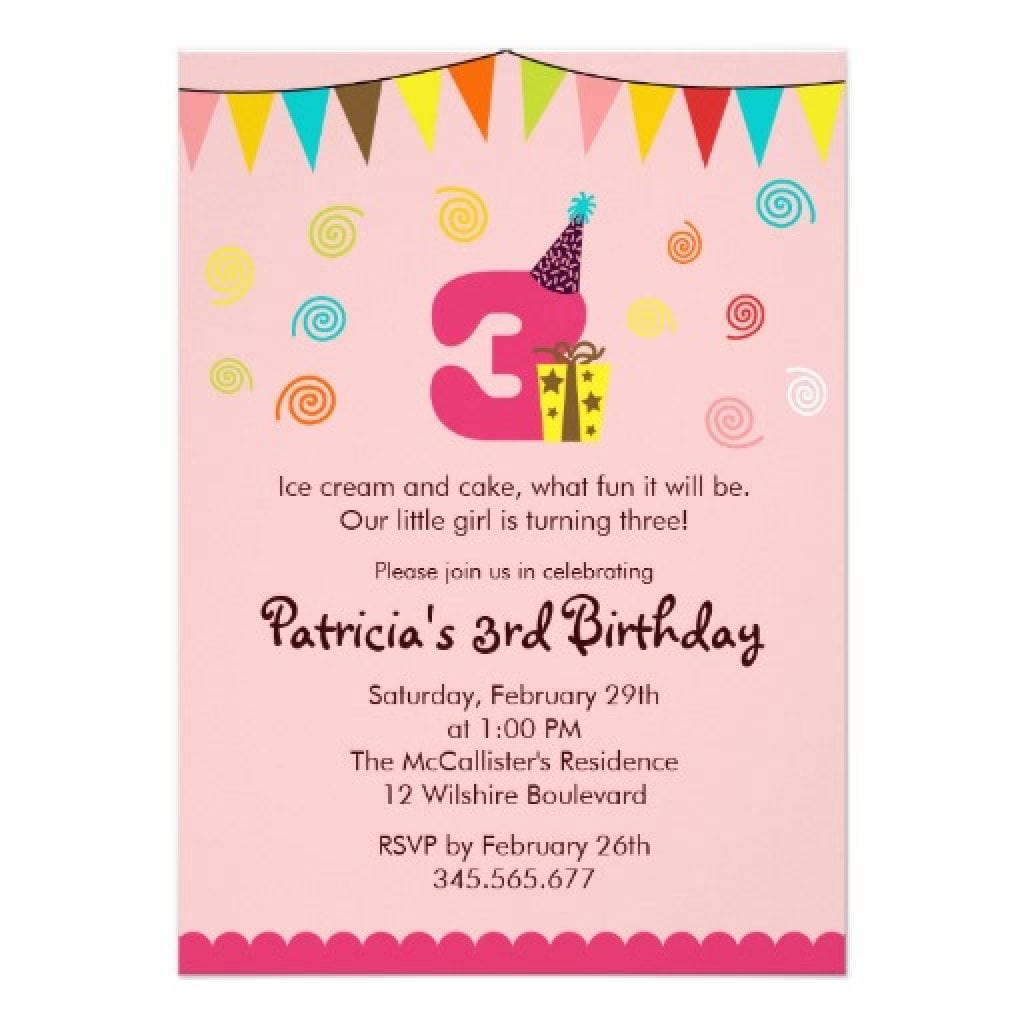 Template   3 Year Old Birthday Invitation Wording 4 Year Old