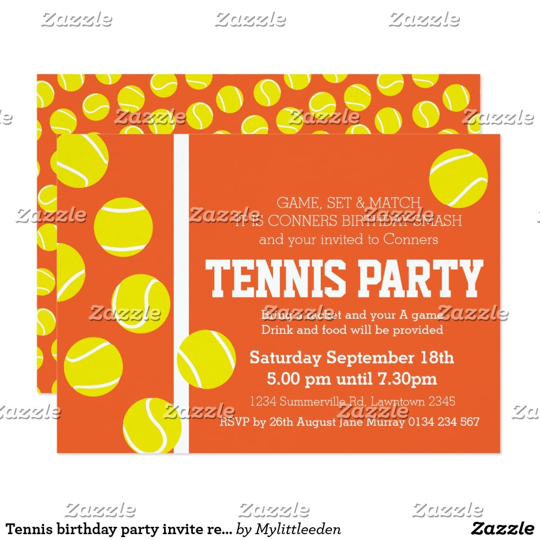 Tennis Birthday Party Invitations - Mickey Mouse Invitations Templates