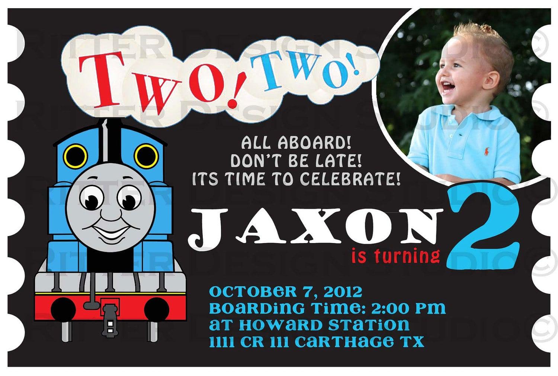 Terrific Thomas The Train Birthday Invitations As Prepossessing