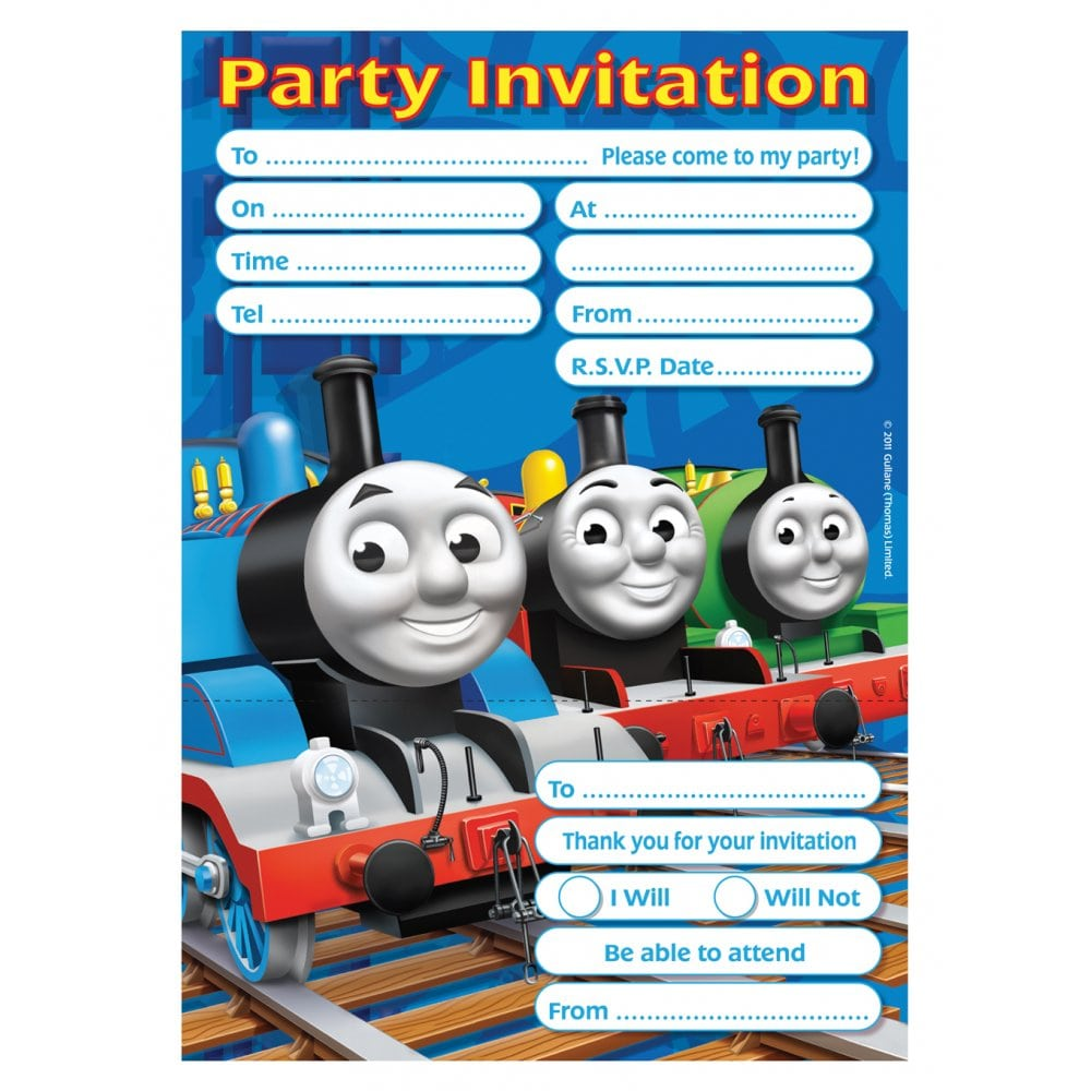Thomas & Friends Party Invitations