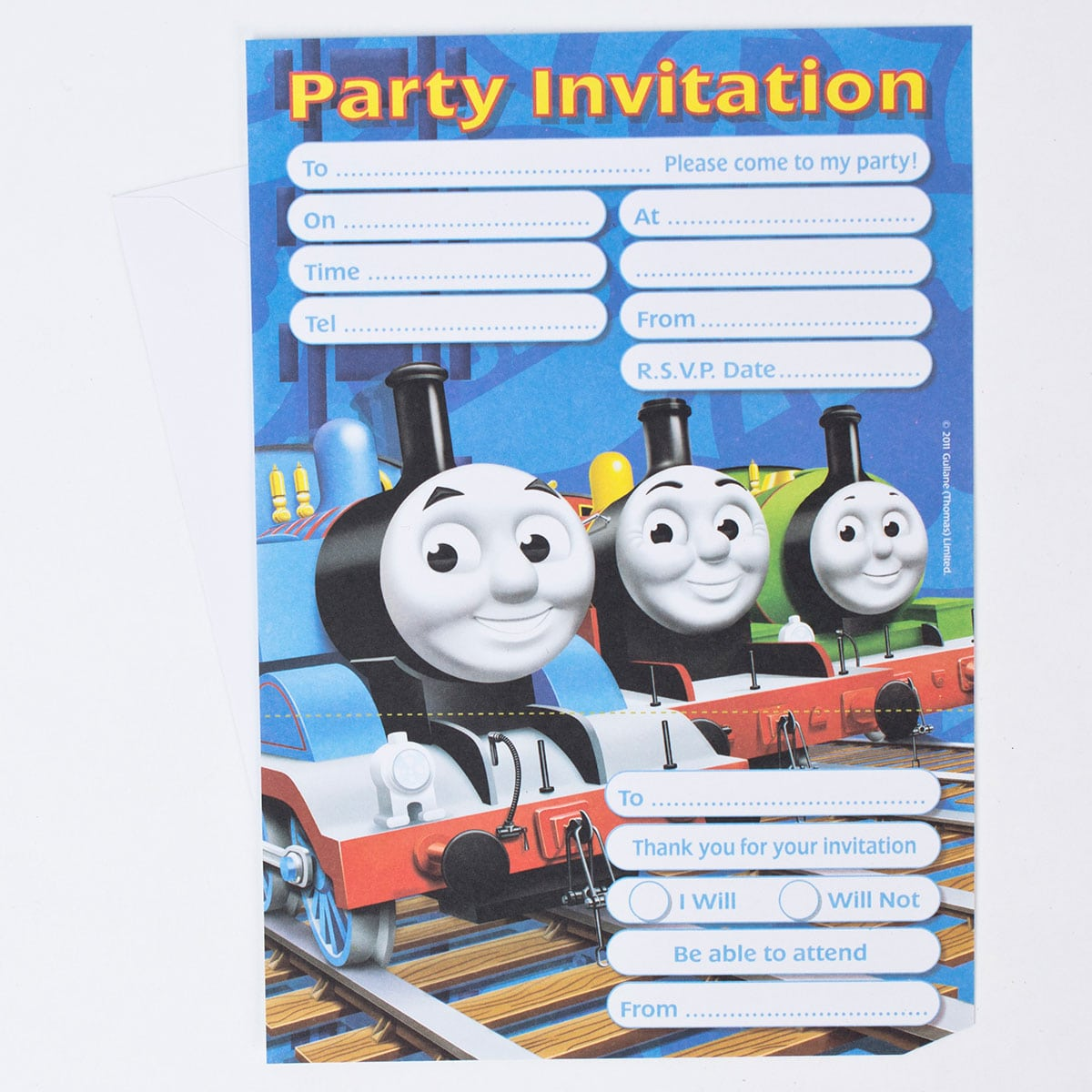 Thomas The Tank Engine Party Invitations, Pack Of 20