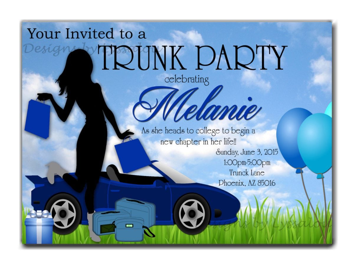 Tips For Choosing College Trunk Party Invitations Free Templates