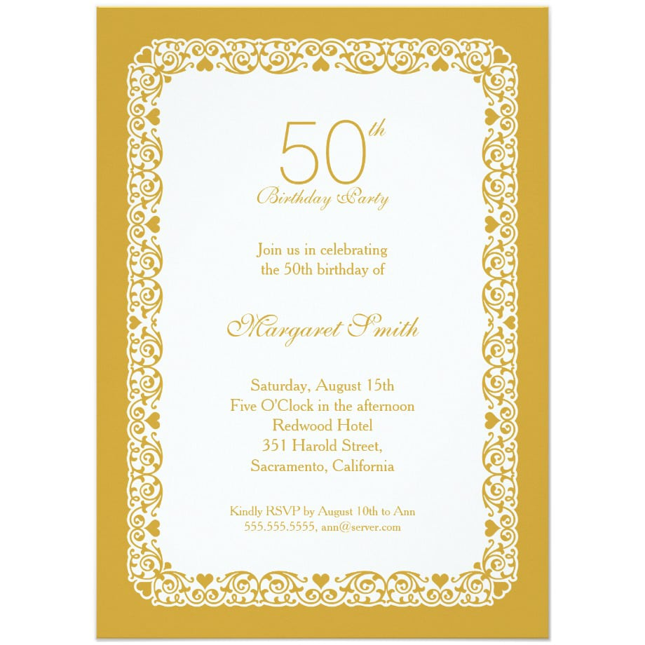 Top 14 50th Birthday Party Invitations For Your Inspiration