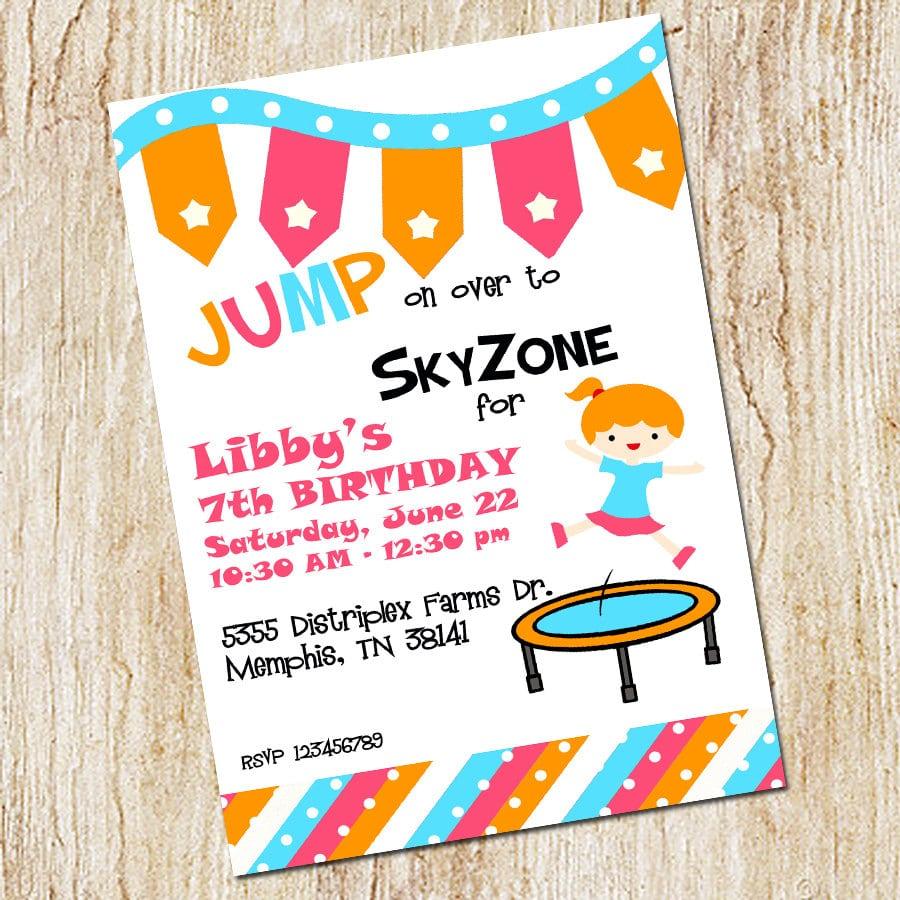 Trampoline Party Invitation