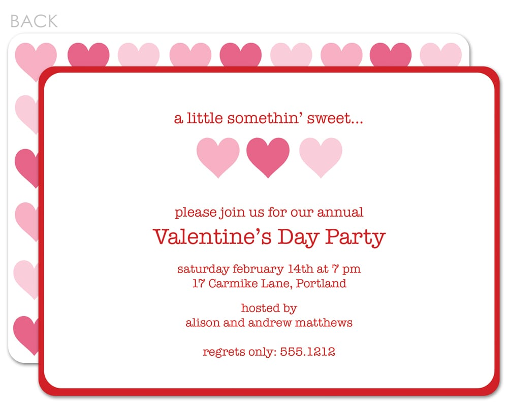 Valentine's Day Party Invitations Valentines Day Party Invitations