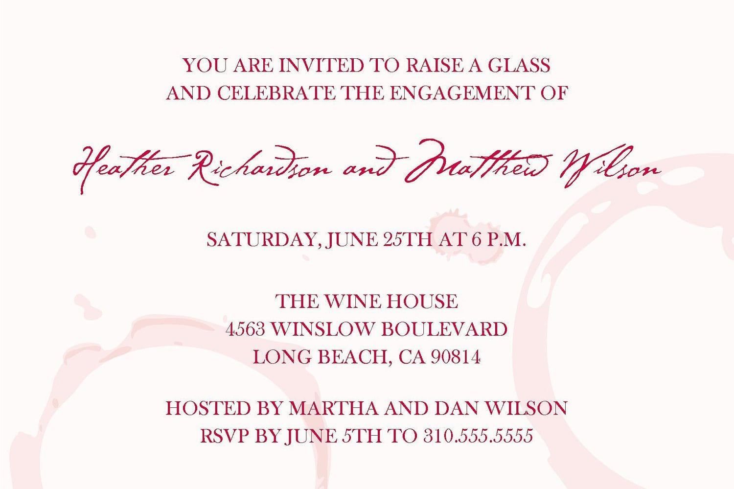 Wine Party Invitation Wording