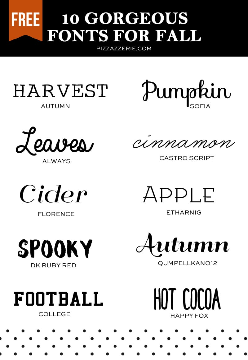 10 Fall Fonts To Download Now