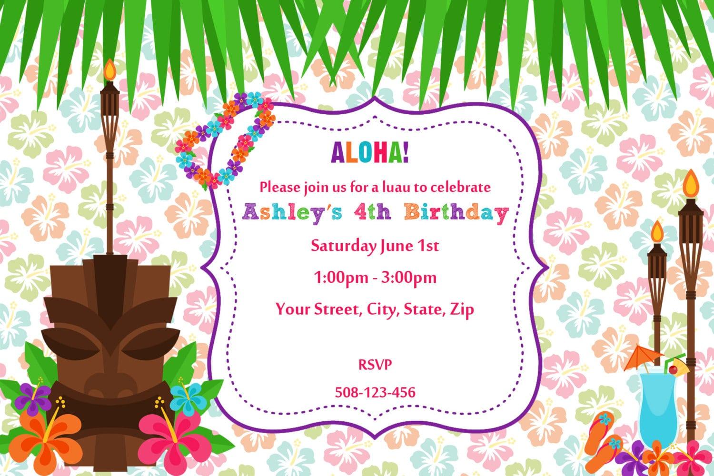 20+ Luau Birthday Invitations Designs