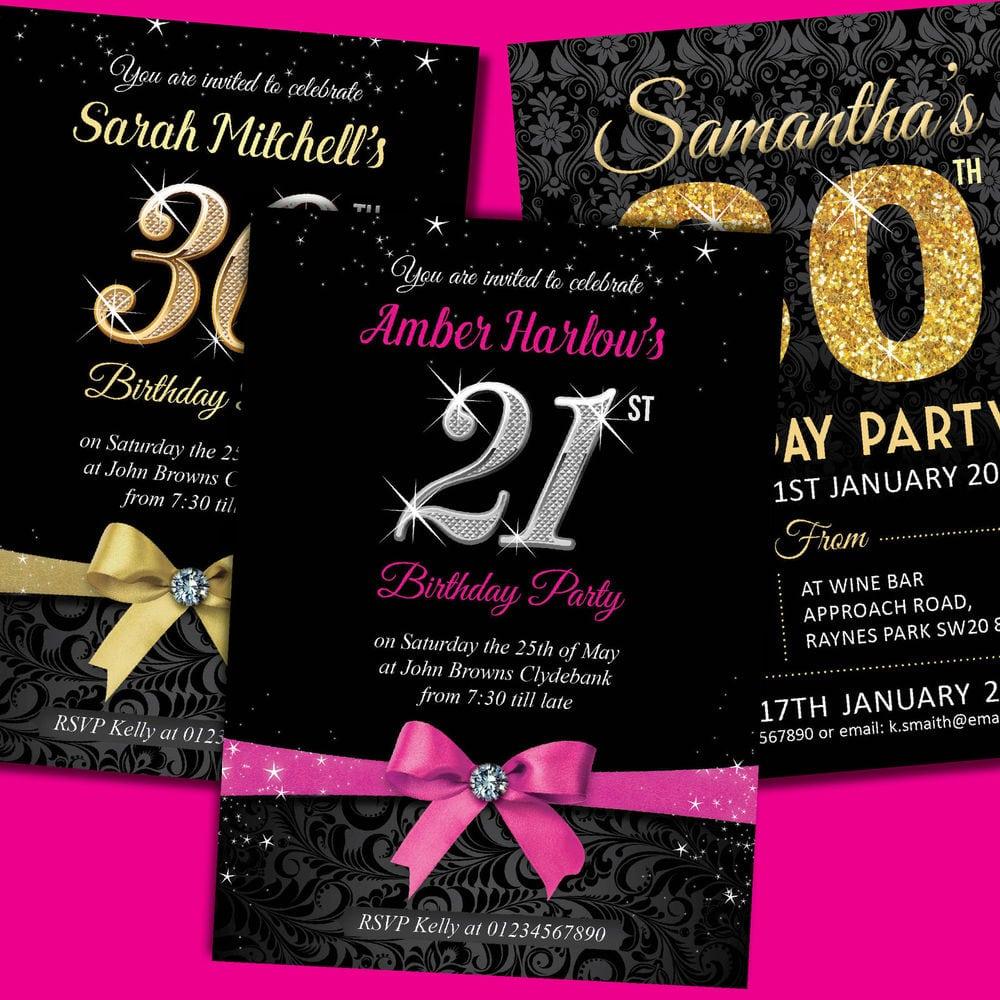 21st Birthday Invitation Designs