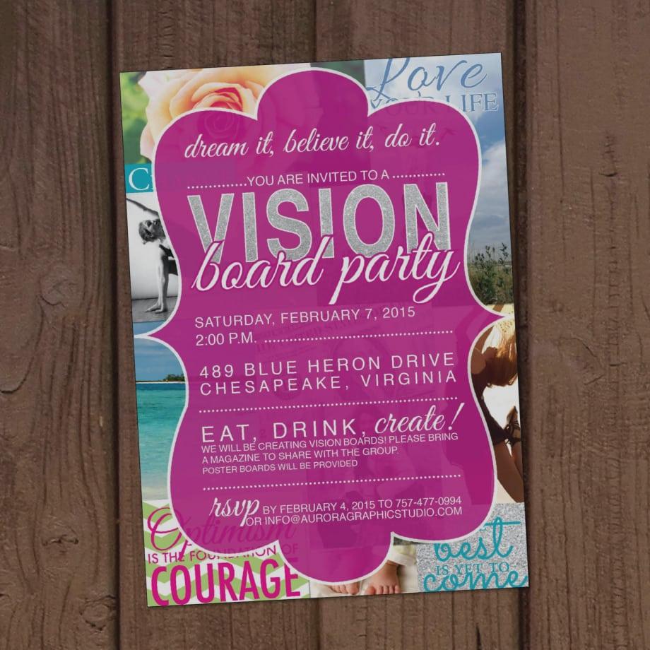 33 Gallery Vision Board Party Invitation