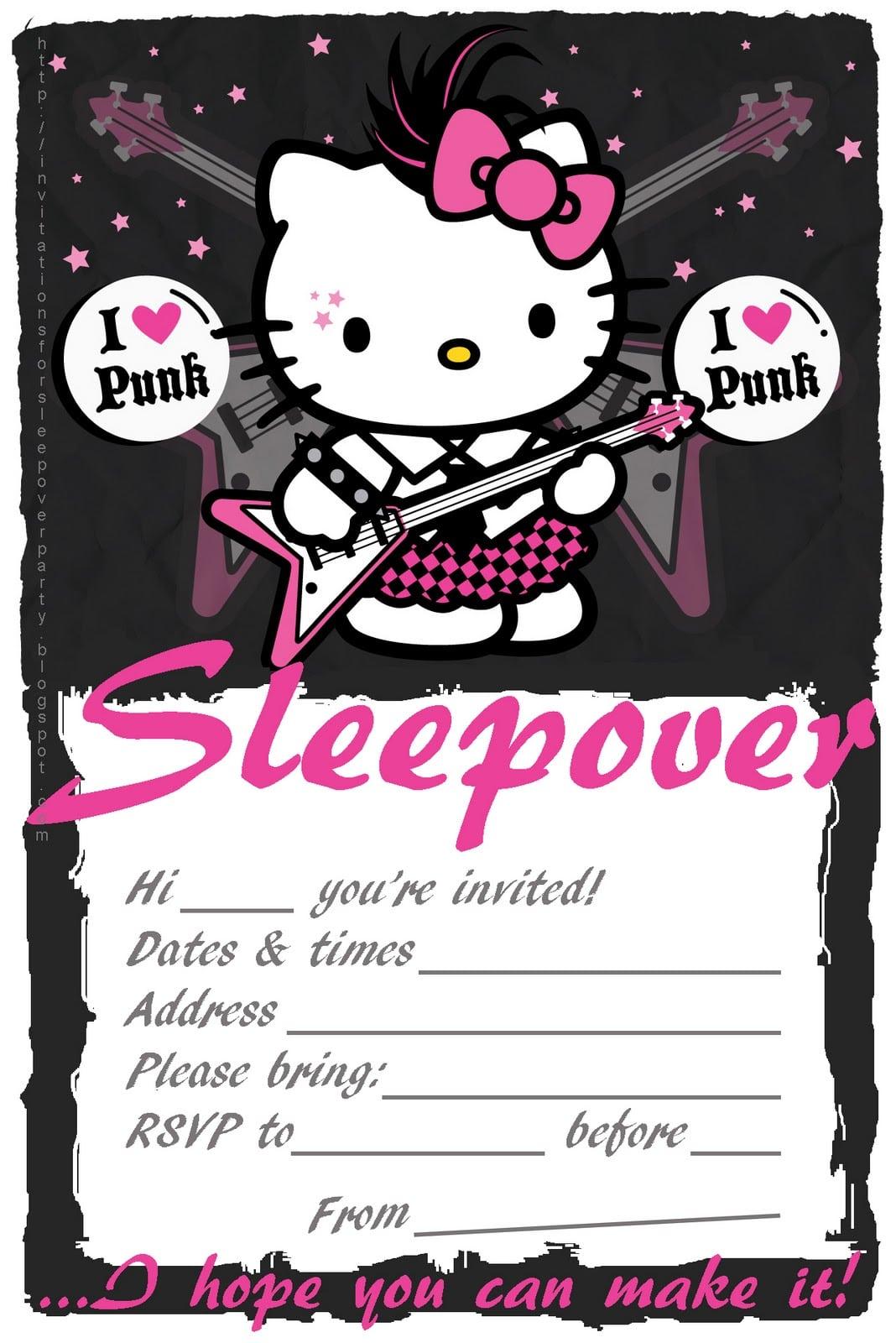 50 Beautiful Slumber Party Invitations