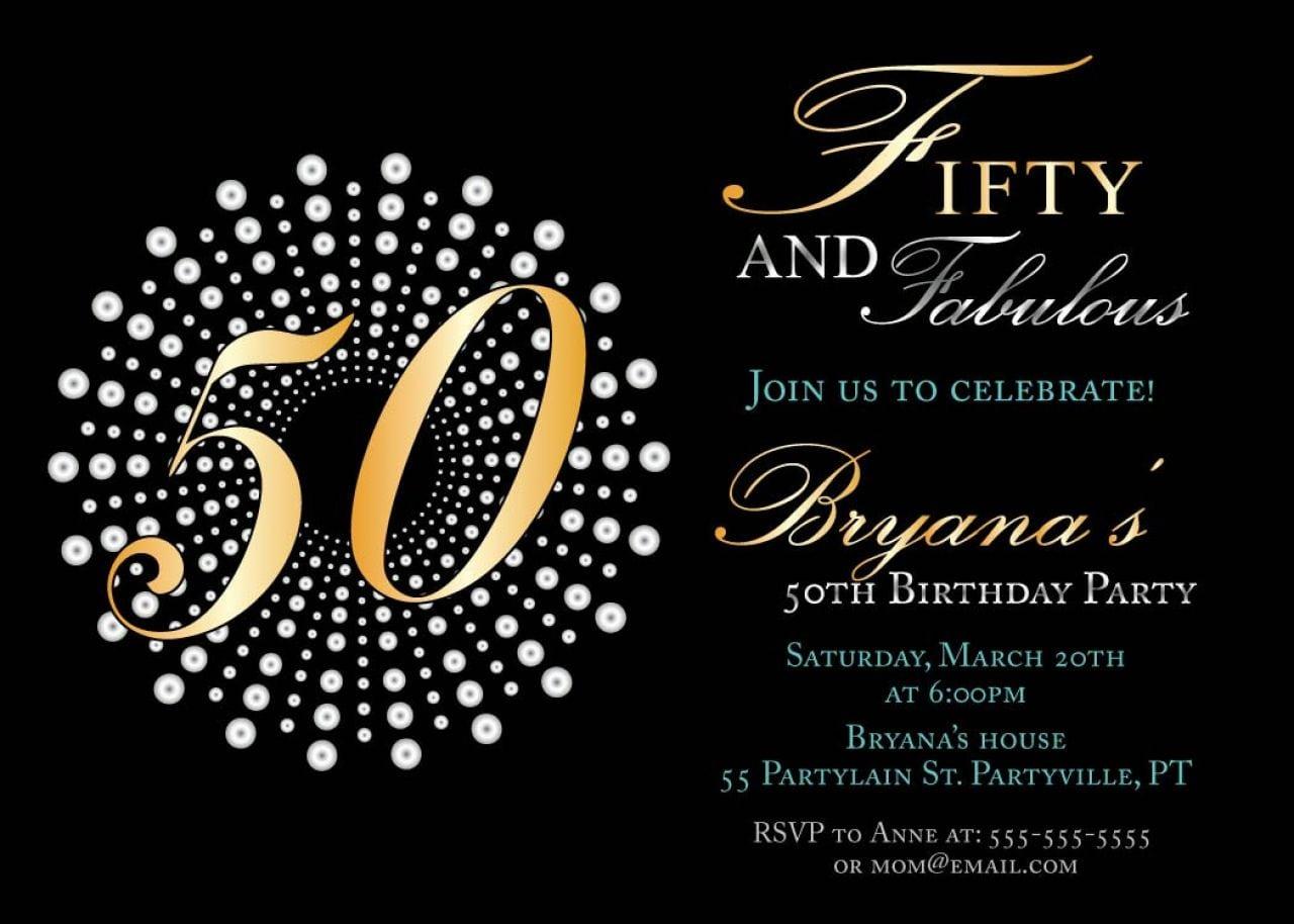 50 Birthday Invitation Cards