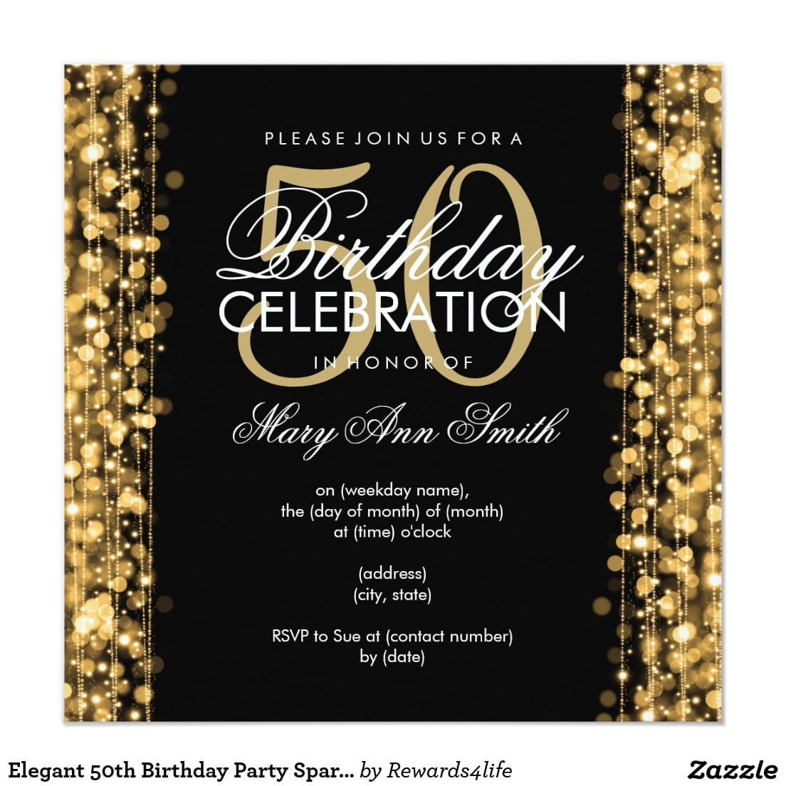 50 Birthday Invitation Cards