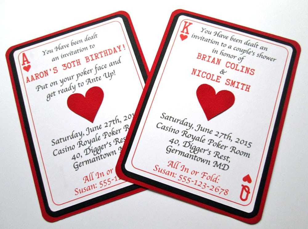 Amazing Poker Party Invitations Photos