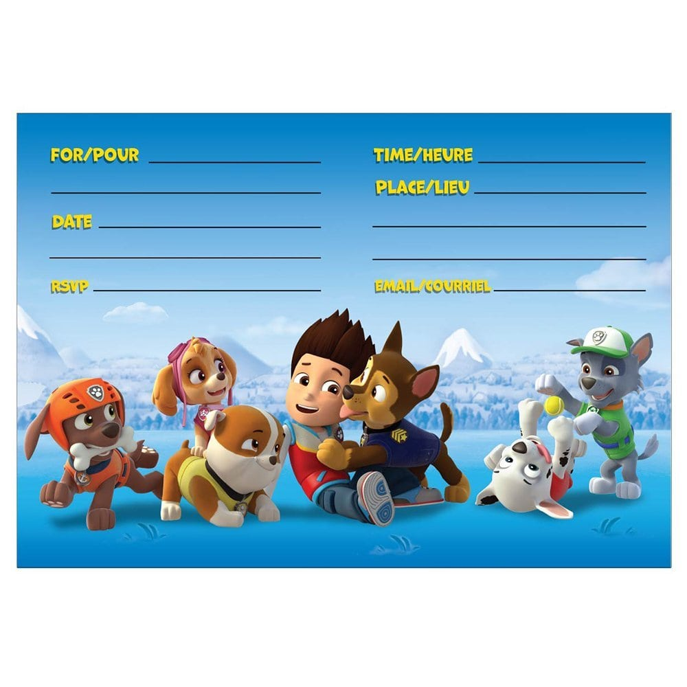 Amazon Com  Paw Patrol Party Invitations, 8ct  Toys & Games