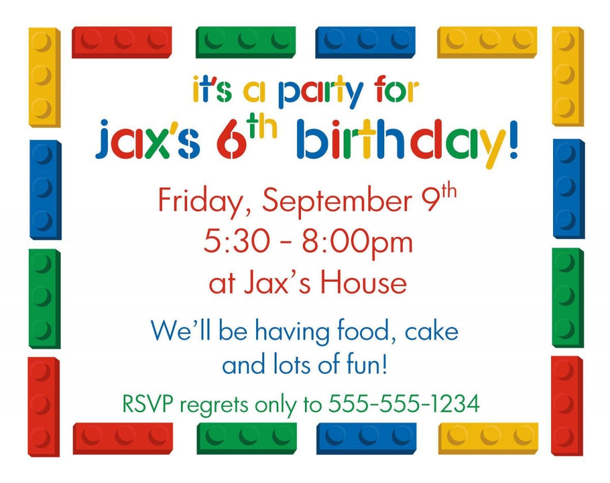 Party Invitation Templates For Word