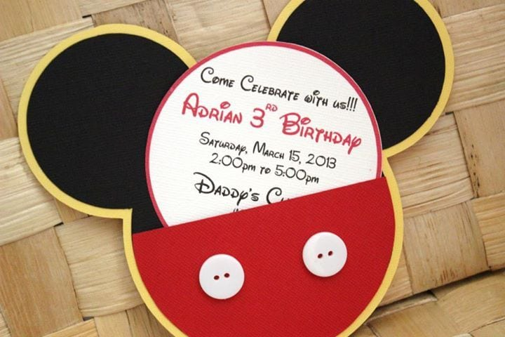 Birthday Invites  Cool Mickey Mouse Birthday Invitations