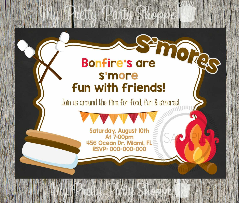 Campfire Party Invitations