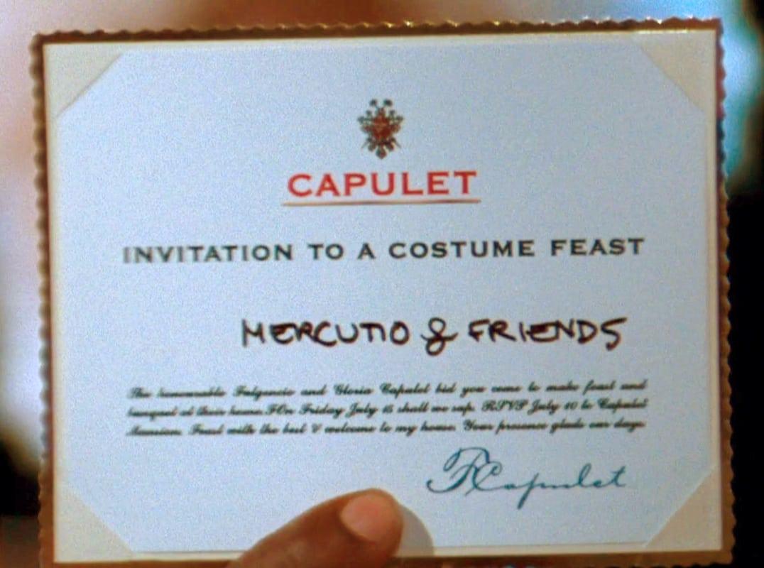 Capulet Party Invitation
