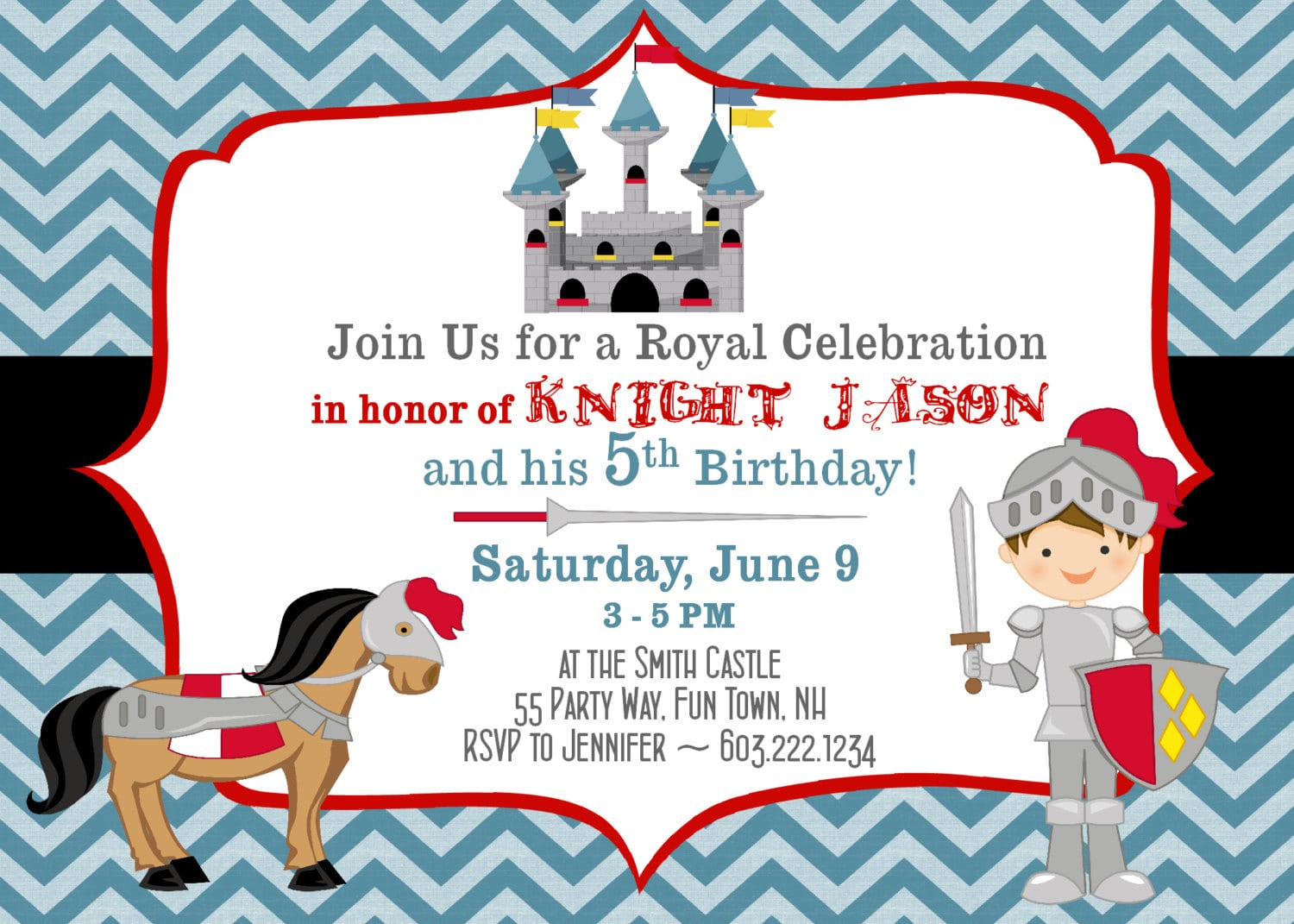 Castle Birthday Invitations