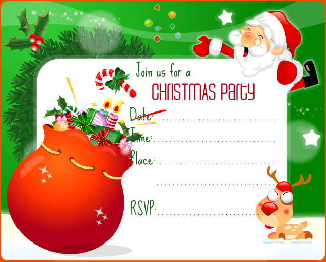 Christmas Party Invitations Templates Christmas Party Invitations