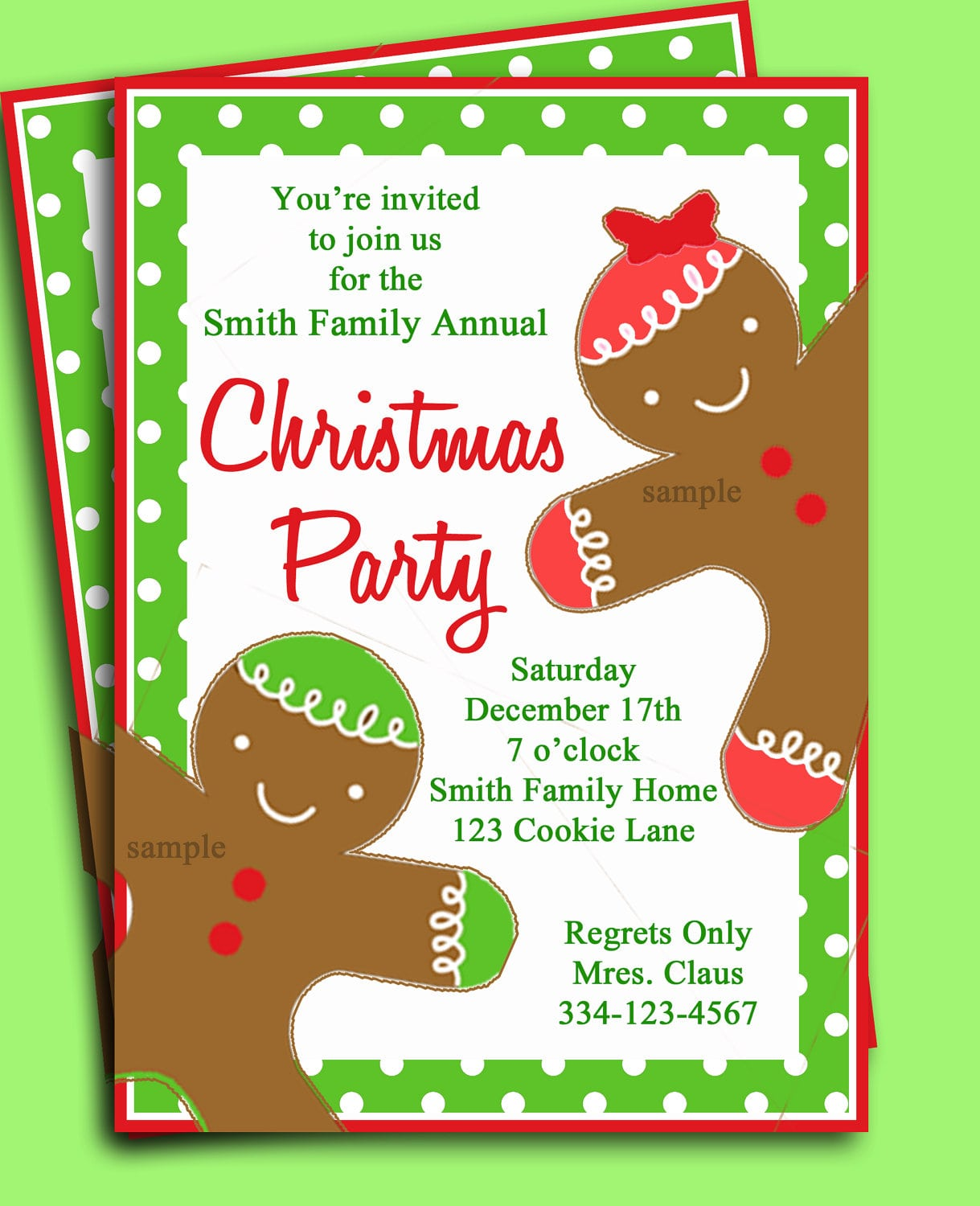 Christmas Party Kids Invitation