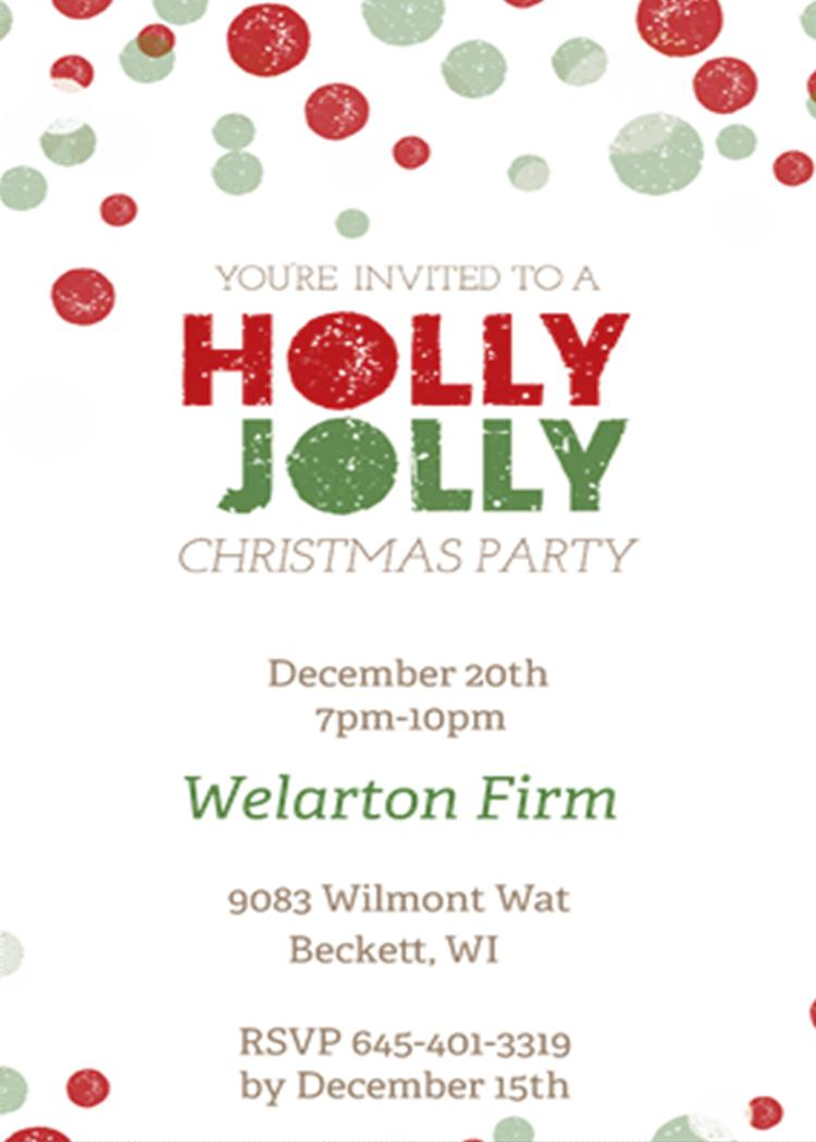 Christmas Work Party Invitations
