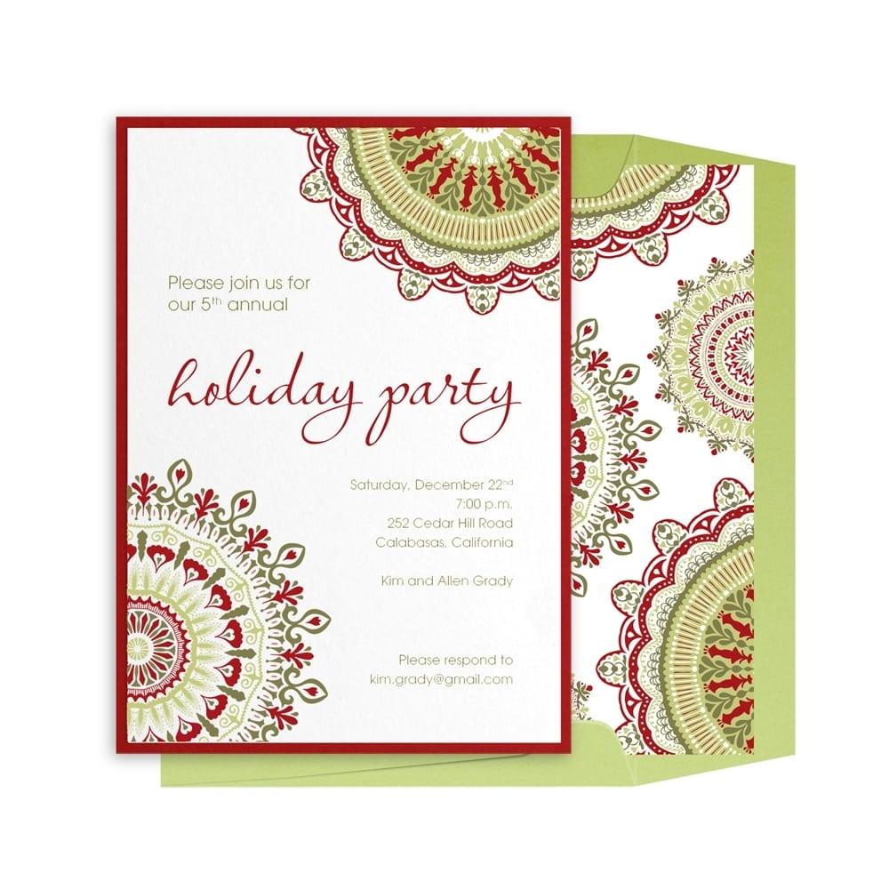Company Holiday Party Invitation Templates