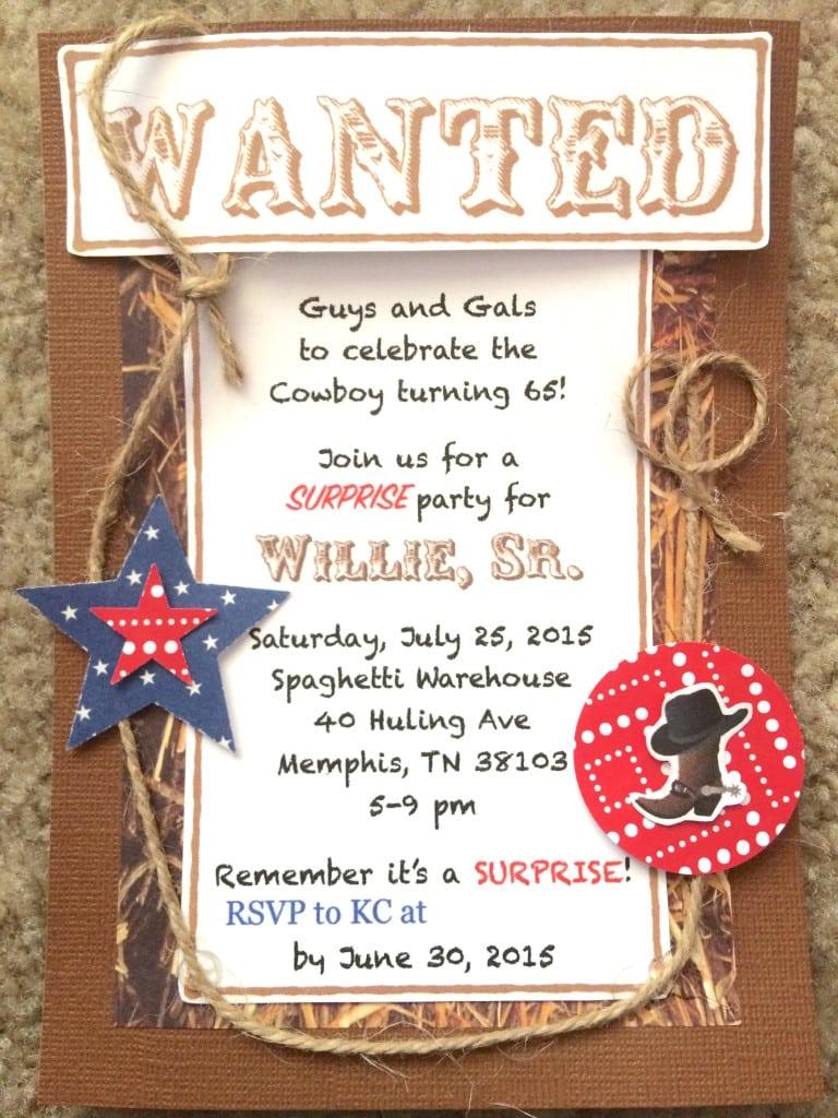 Cowboy Themed Birthday Invitations