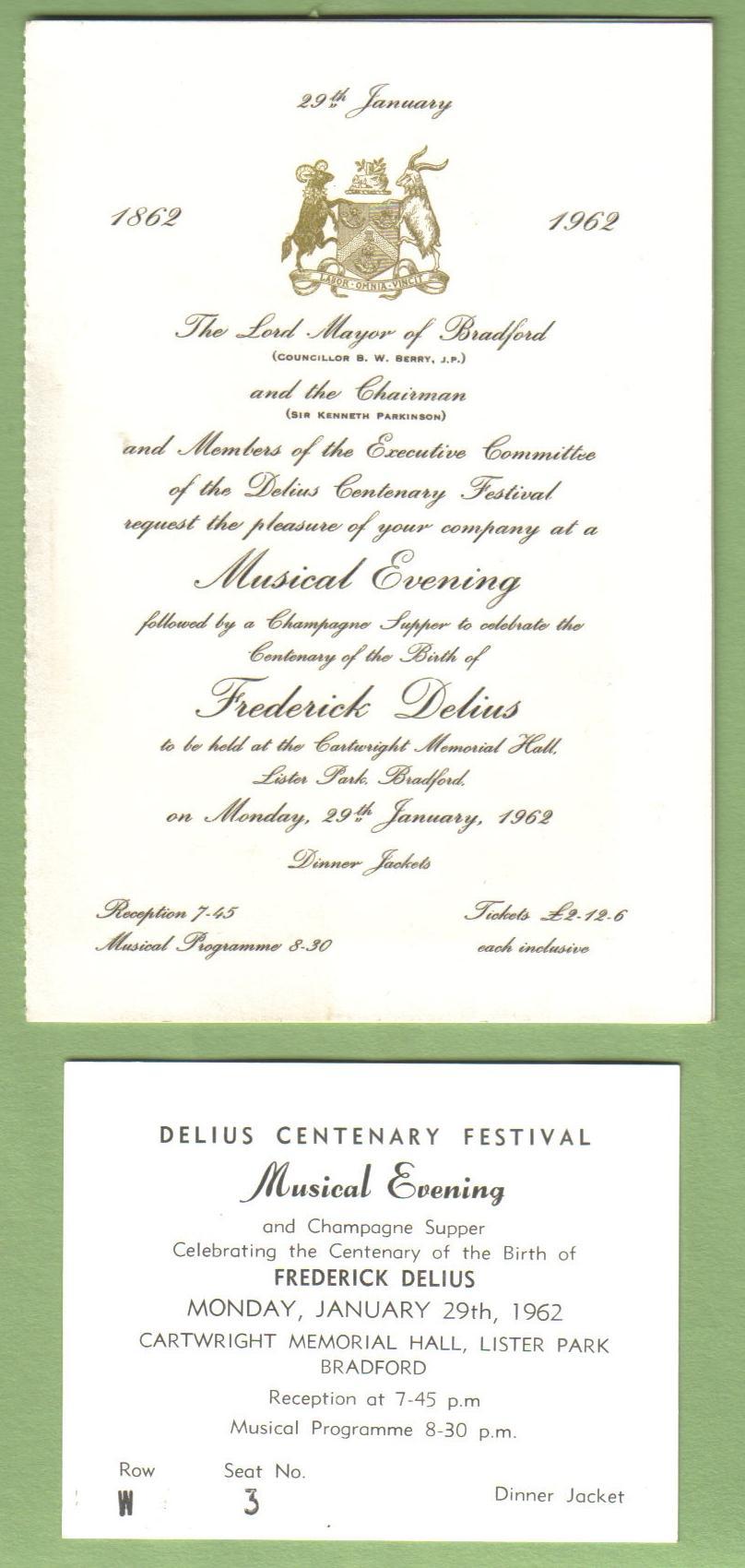Delius Centenary Festival 1962
