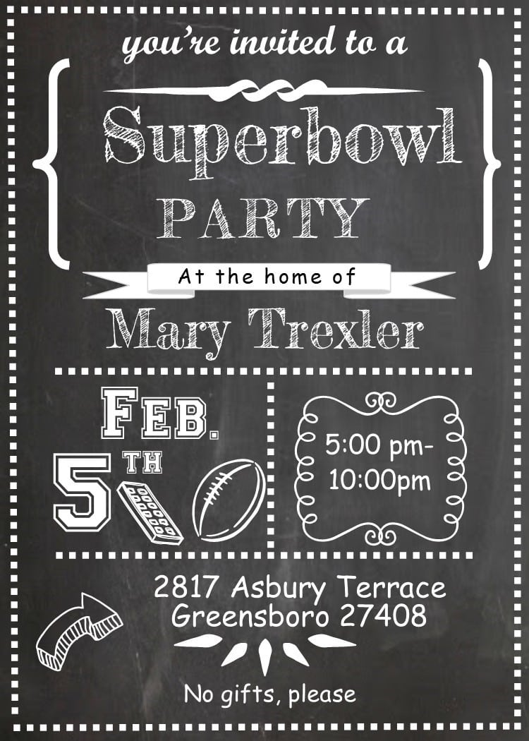 Exciting Super Bowl Party Invitations As Prepossessing Ideas Free