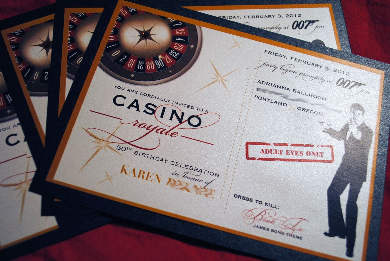 Casino Royale Theme Party Invitations - Mickey Mouse Invitations ...