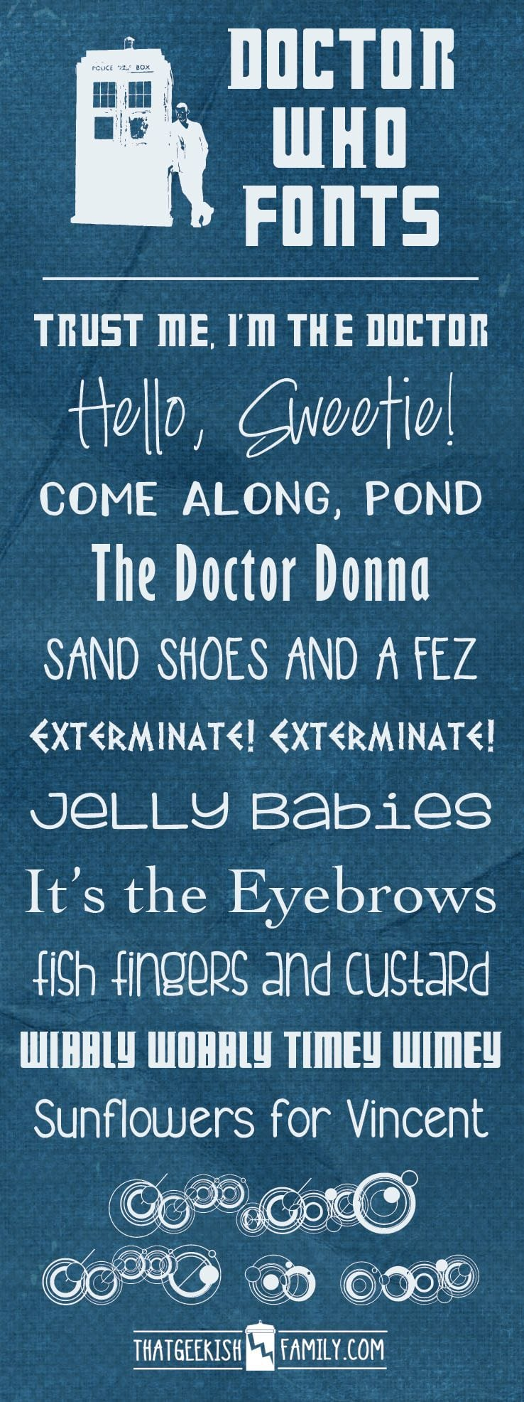 Free Doctor Who Fonts!
