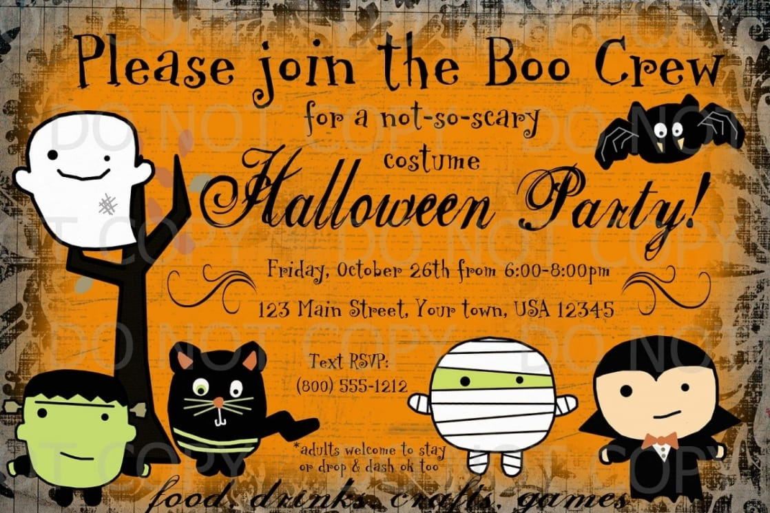 Free Halloween Birthday Invitations Templates Ideas — Anouk