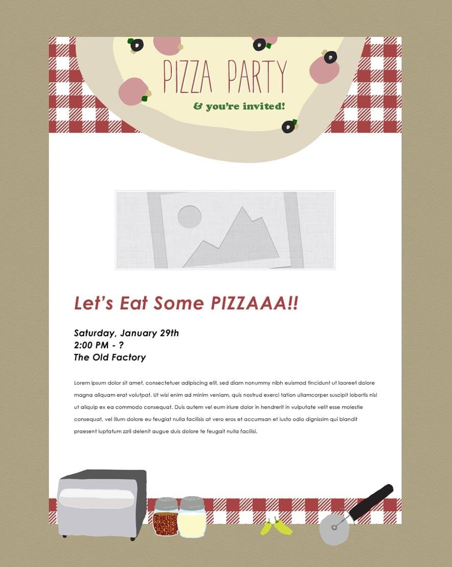 Free Invitation Software Download Pizza Party Party Invitation