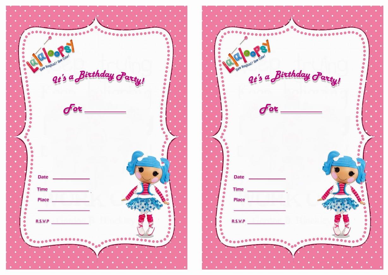 Free Lalaloopsy Birthday Invitations – Bagvania Free Printable